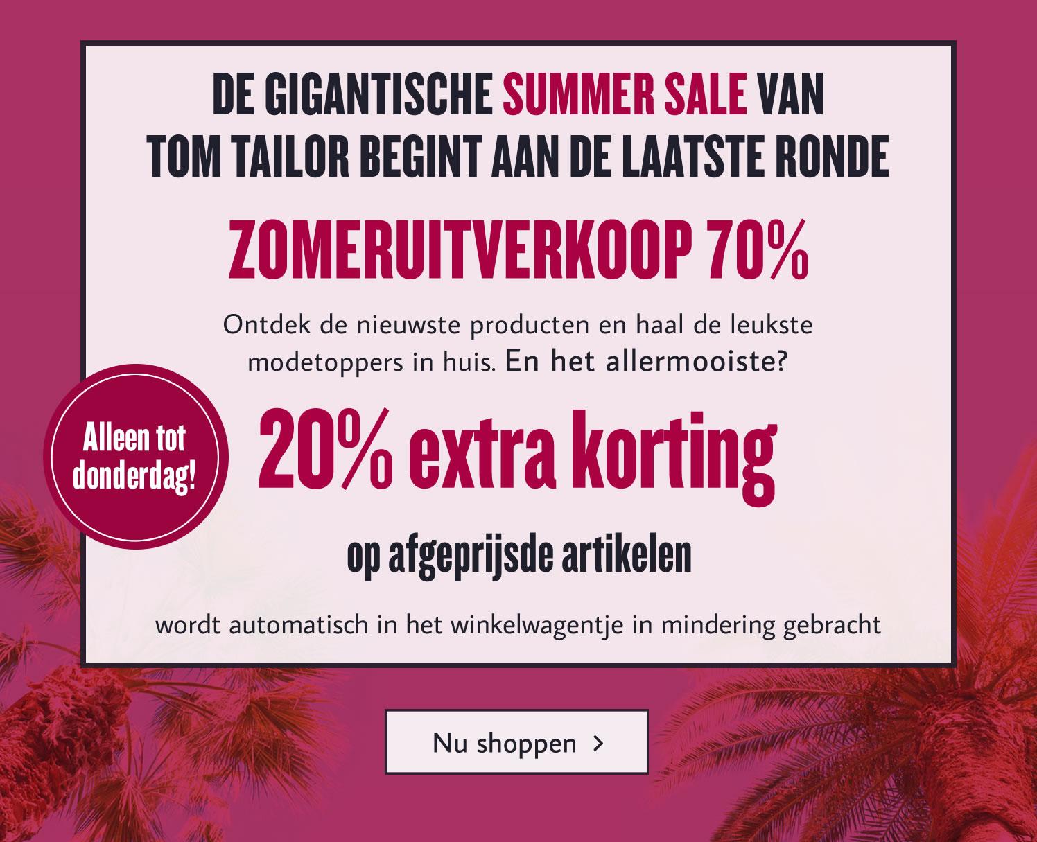 20% extra korting op de sale @ Tom Tailor