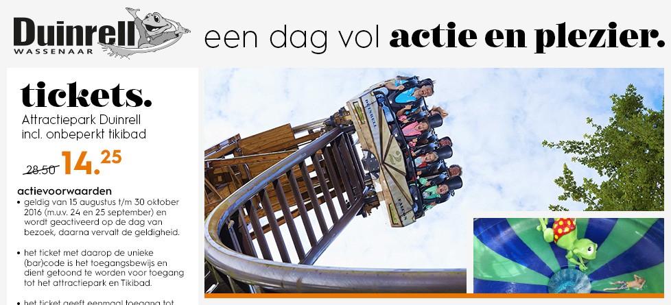 Duinrell tickets incl onbeperkt Tikibad €14,25 @ Blokker