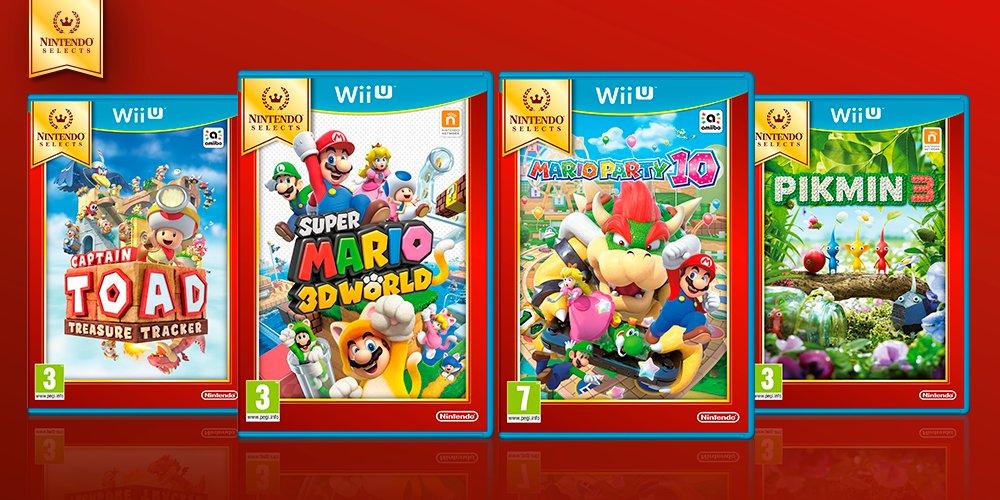 Nieuwe Nintendo Select games (Wii U) vanaf 30 september