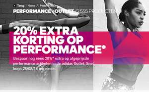 [LAATSTE DAG] 20% extra korting op Performance Outlet @ Adidas