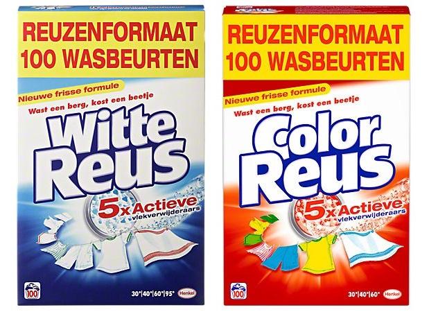 Witte Reus Poeder Wit of Color 5.5 kilogram 100 wasbeurten voor €9,99 @ Media Markt