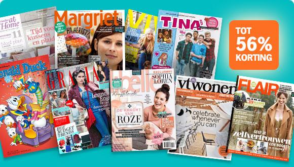 Proefabonnement op een tijdschrift naar keuze voor €14,95 @ Magazine.nl