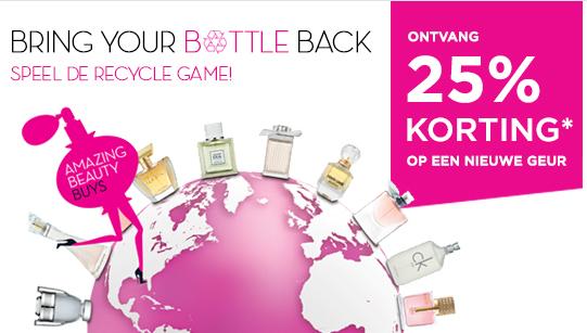 25% korting  na inleveren leeg parfumflesje @ ICI Paris XL