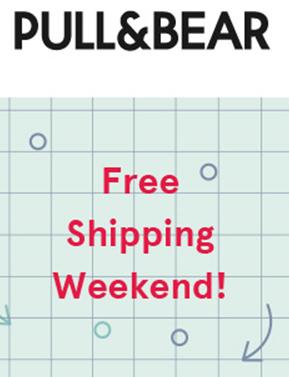 Dit weekend gratis verzending (ook op sale met tot -80% korting) @ Pull & Bear