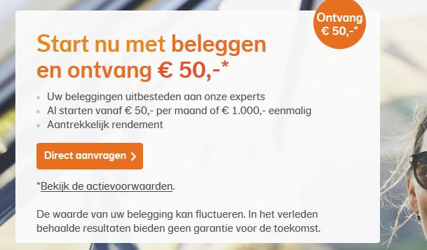 50 euro cashback bij Nationale-Nederlanden