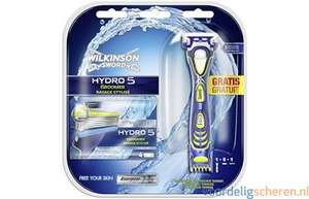 Wilkinson sword Hydro 5 Groomer scheerapparaat + 5 mesjes voor €9.95 @voordeligscheren.nl
