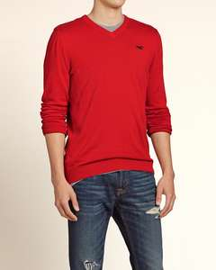 Iconic V-Neck Sweater voor €11,70 @ Hollister