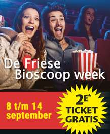 De Friese Bioscoop Week van 8 t/m 14 september (tweede ticket gratis)