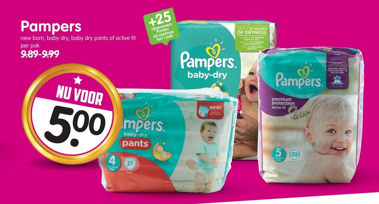 Pampers (ook baby dry) voor €5 (50% korting) @ Emté (vanaf zondag)