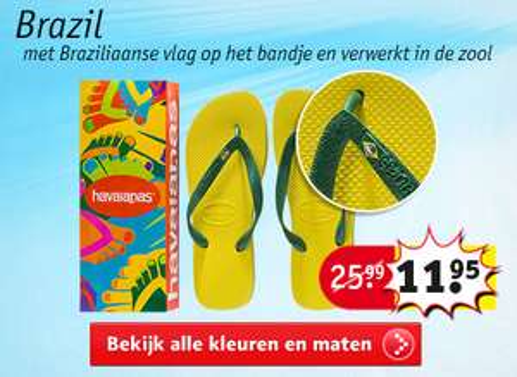 Havaianas slippers voor €11,95 @ Kruidvat