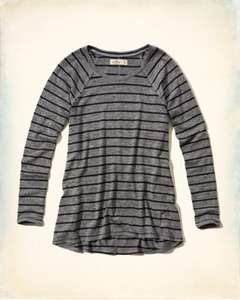 Must-Have Long Sleeve Easy dames-shirt voor €2,99 / €3,99 incl. @ Hollister