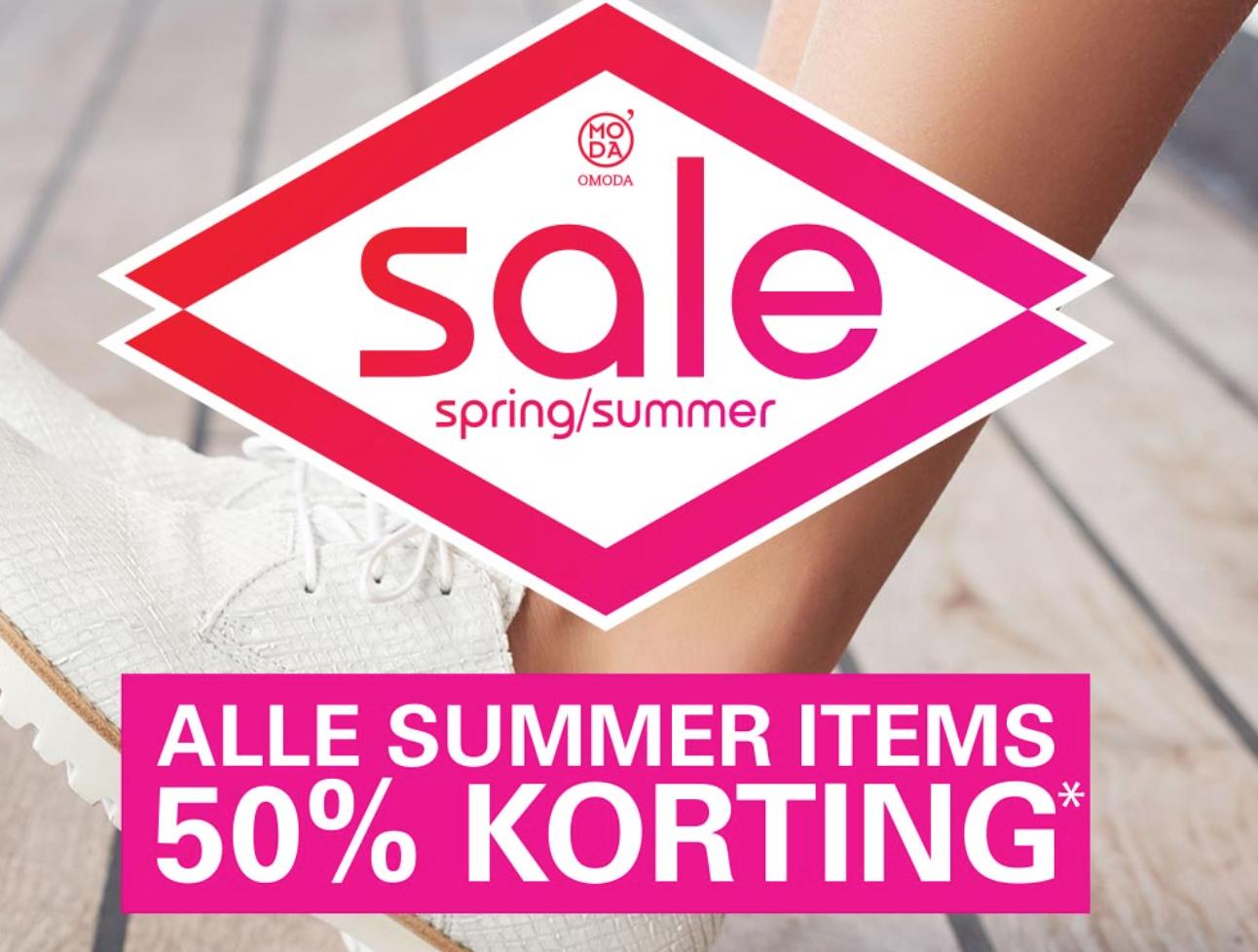 min. 50% korting op summer items @ Omoda