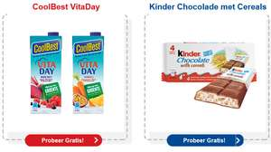 Gratis Coolbest Vita day en Kinder Chocolade met Cereals @ Jan Linders