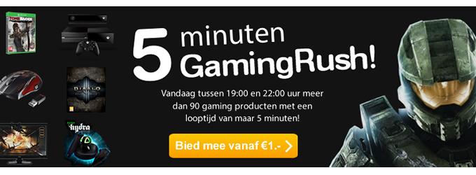 Vandaag tussen 19:00 en 22:00 GamingRush veiling @ Mycom