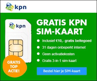 Gratis KPN SIM-kaart met onbeperkt internet en 10 Euro beltegoed@ shopkorting