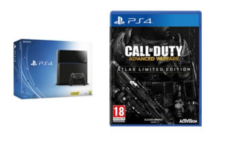 Playstation 4 + Call of Duty: Advanced Warfare Atlas Limited Edition voor €422,37 @ Amazon.fr