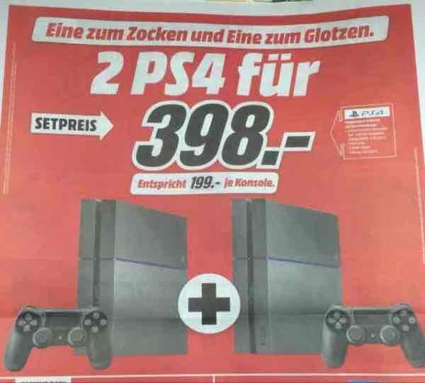 2 x PS4 voor €398 bij MediaMarkt Duitsland