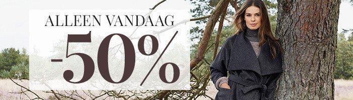Vandaag: nieuwe collectie damesjassen -50% @ Bonaparte