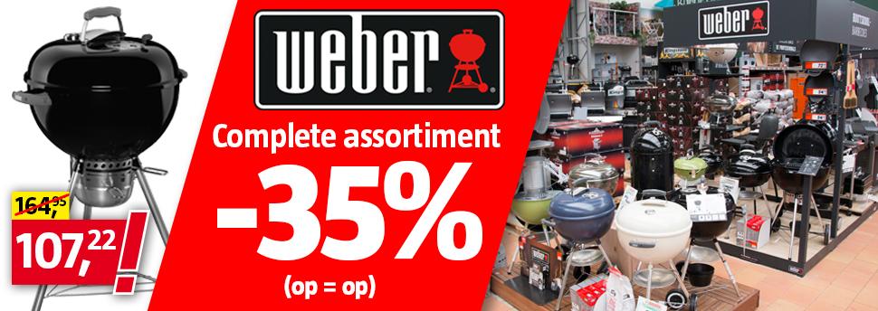 Vanaf 10-09 - 35% Korting op het Weber Assortiment @Bauhaus Groningen