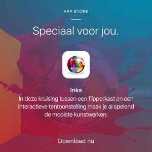 Gratis INKS game via de Apple store app
