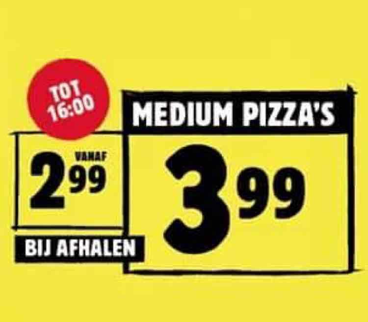 Domino's pizza meerdere locaties: Medium pizza's €3,99 bij afhalen