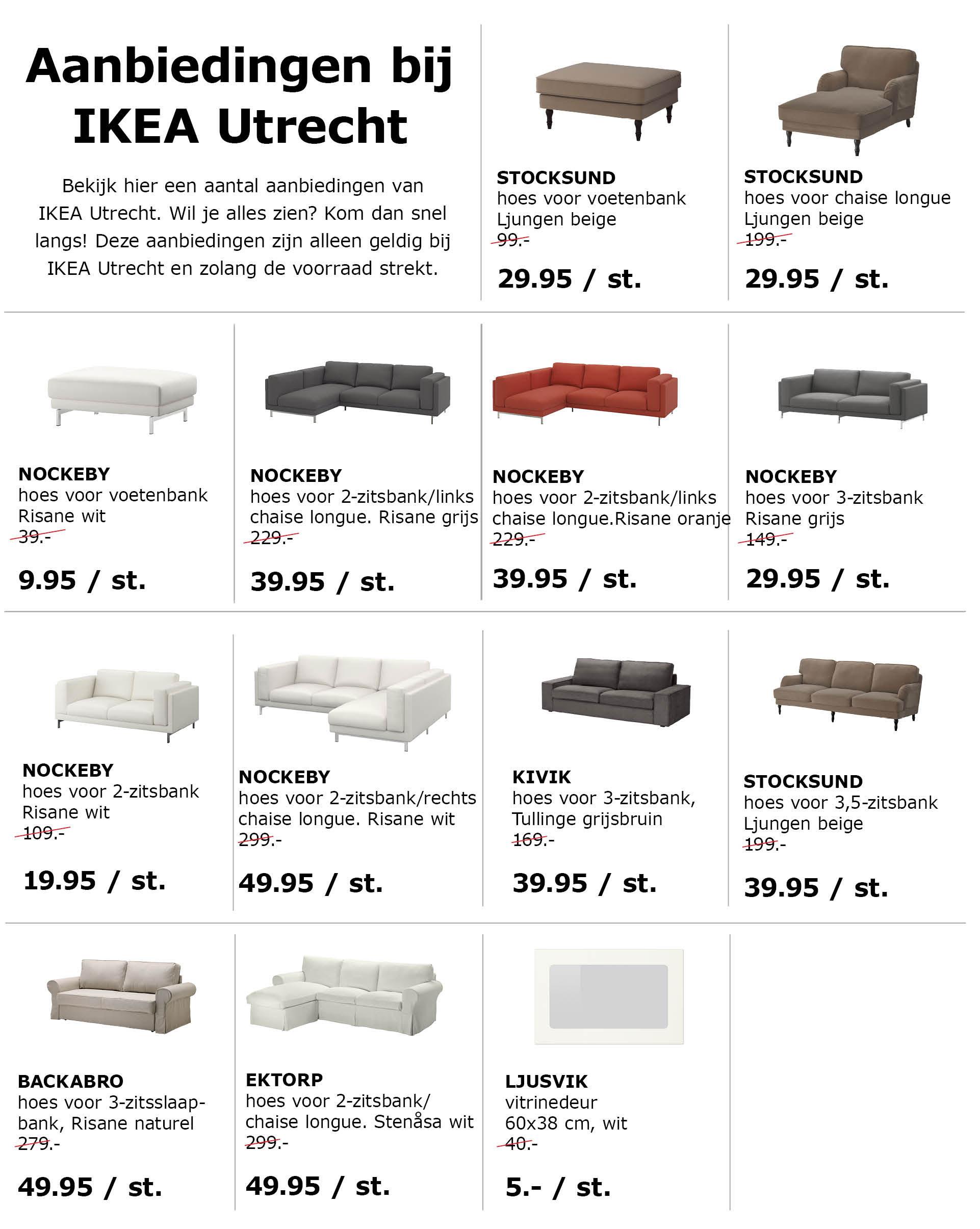 Hoge kortingen op bank-hoezen @ IKEA Utrecht