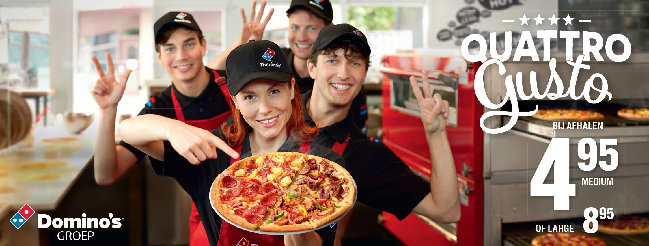 Pizza Quattro Gusto Italian (30cm) €4,45 bij Domino's Pizza (afhalen)