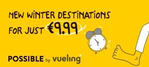 Vueling retourvluchten naar Gran Canaria  (en o.a. Porto) voor €10