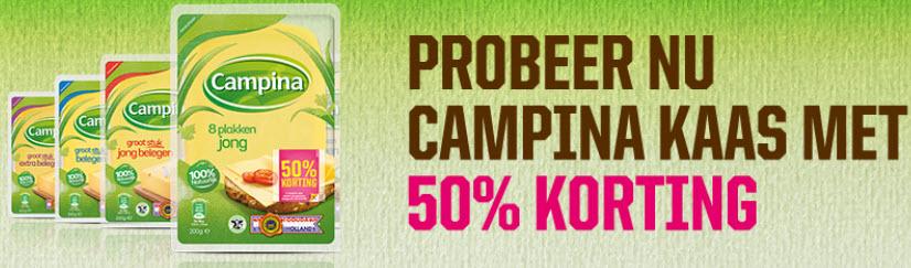 Cashback 50% Campina kaas @ Campina