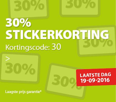30% korting op een product naar keuze @ Agradi.nl