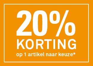 Met bon én online 20% keuzekorting op 1 item naar keuze @ Karwei