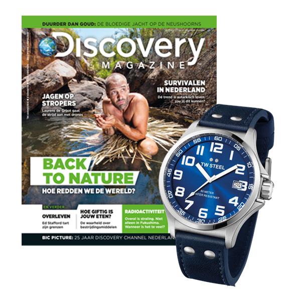 Discovery Magazine Abonnement + TW Steel Horloge voor €147.45 @ Reshiftstore