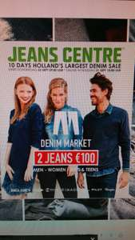 2 jeans voor 100 euro vanaf 21 september @ Jeanscentre