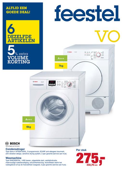 Bosch Wasmachine / Droger voor €332,75 @ Makro