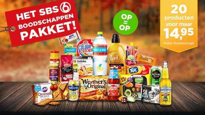 SBS6 boodschappenpakket 20 producten Gratis Bezorging!