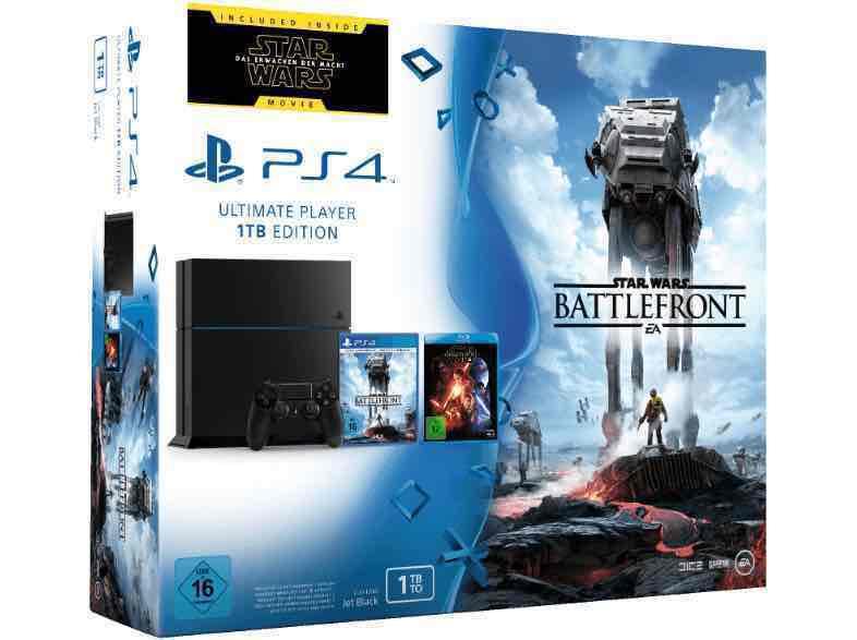 Playstation 4 met 1tb inclusief Star wars Battlefront voor €249 bij de Duitse Saturn