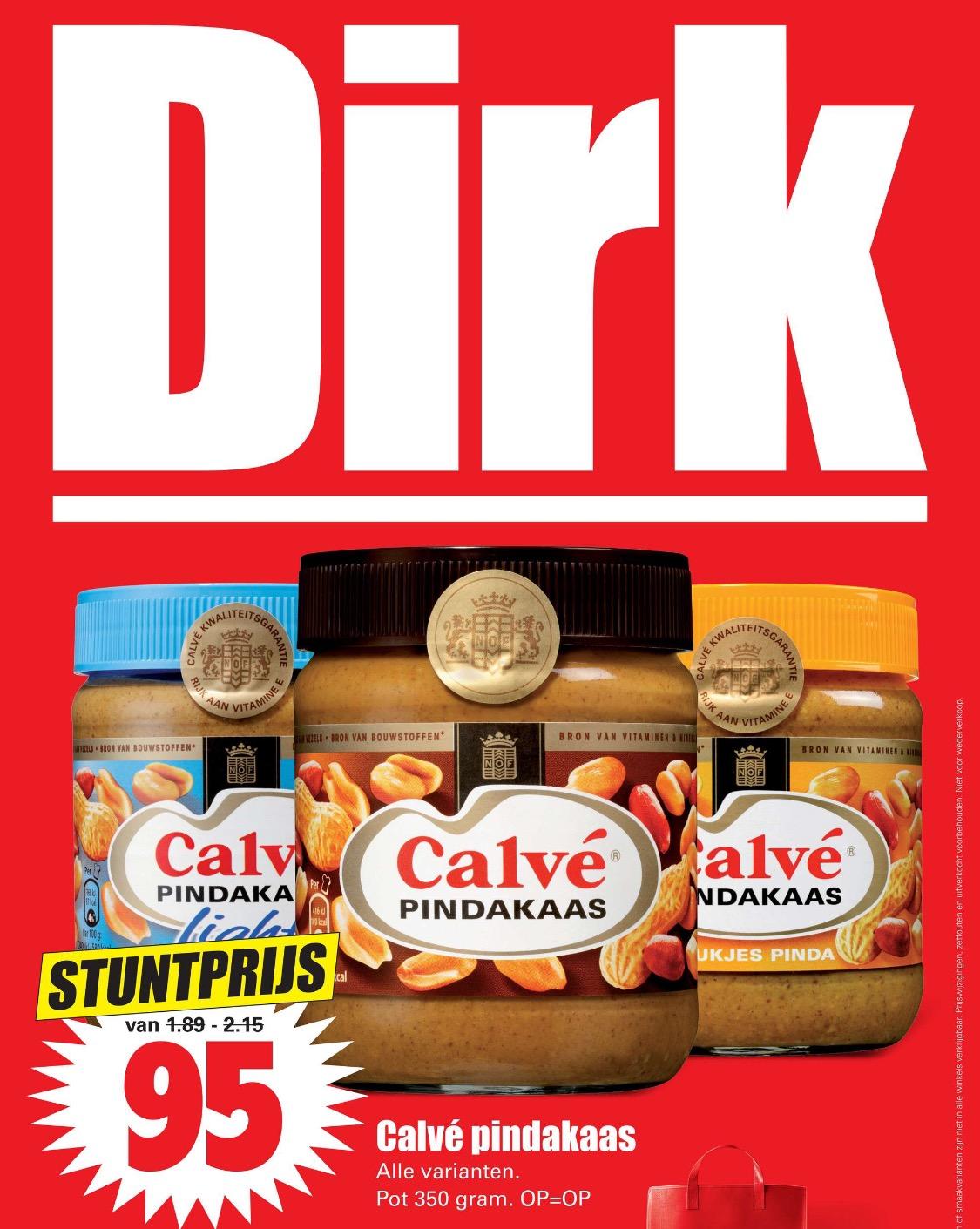 Calvé pindakaas deze week bij de Dirk