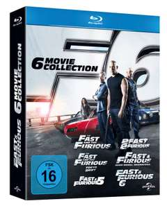 Fast & Furious The Collection 1 t/m 6 (Blu-ray) voor €31,81 @ Amazon.de