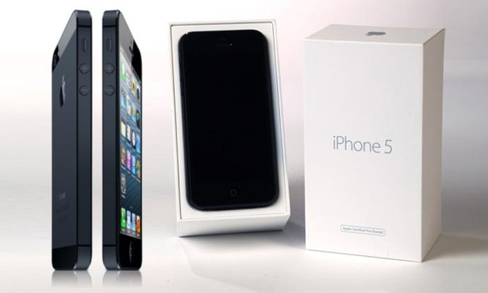 iPhone 5 (16GB) zwart of wit Refurbished Apple gecertificeerd en simlockvrij voor €399,95 @ Groupon