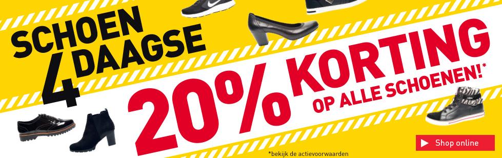 Schoen4daagse - 20% korting op alle schoenen @ Scapino