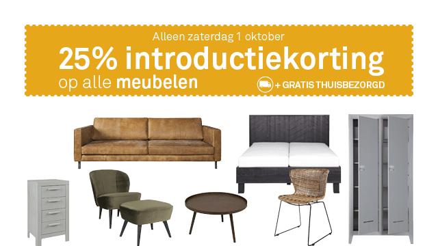Zaterdag 1-10: 25% korting op alle meubels + gratis bezorgd @ Karwei
