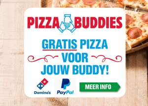 Gratis pizza voor je vrienden als je afrekent met PayPal (minimaal €20) @ Domino's