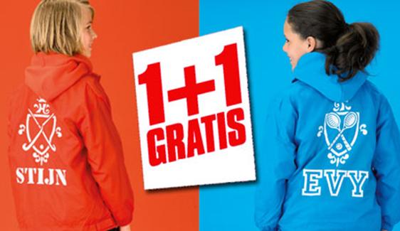 ACTIE: gepersonaliseerde windjacks: 2 halen 1 betalen @ Simply Colors