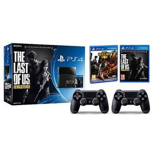 Sony PlayStation 4 + 2x DualShock controllers + Infamous + the last of us