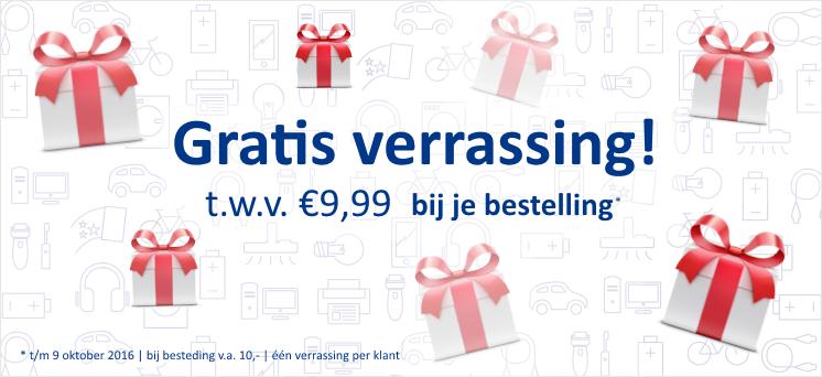 Gratis verrassing t.w.v. €9,99 bij je bestelling vanaf 9,99 @ Handyman
