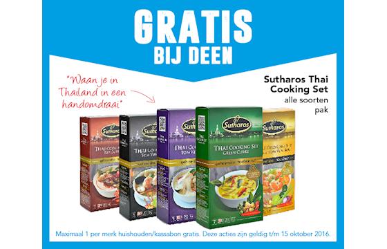 Gratis Sutharos Cooking Set bij Deen