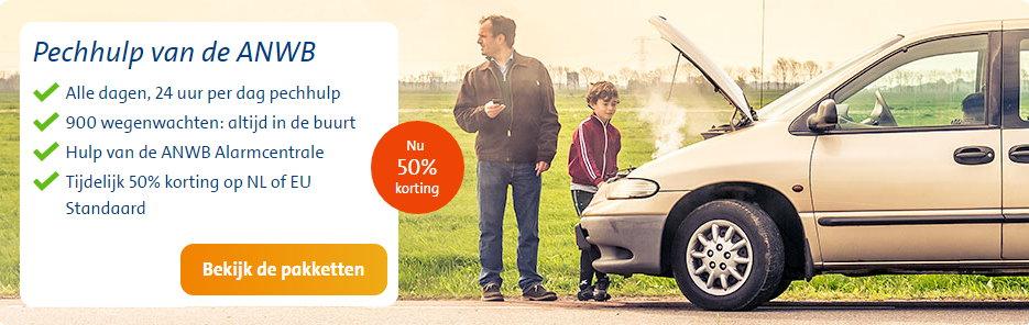 ANWB wegenwacht voor €47,50 i.p.v. € 95,- (1 jaar)