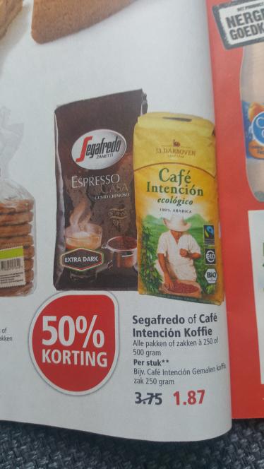 Segafredo Espresso casa bonen (kilo €6,19) bij Plus