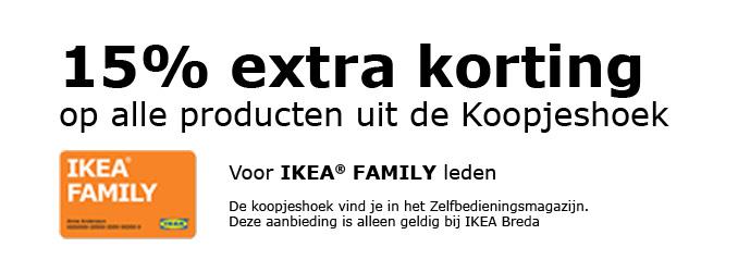 15% extra korting op alles uit de koopjeshoek @ IKEA Breda