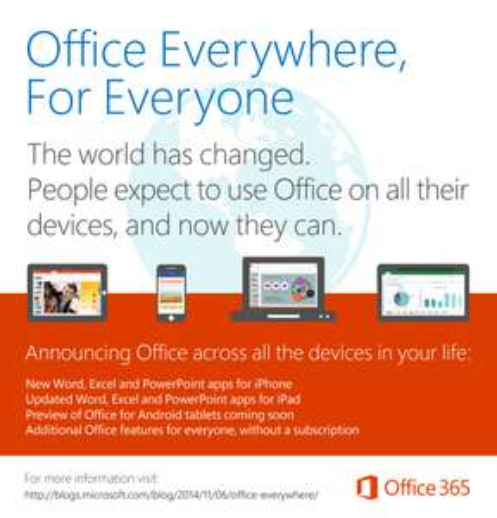 gratis microsoft office 365 app
